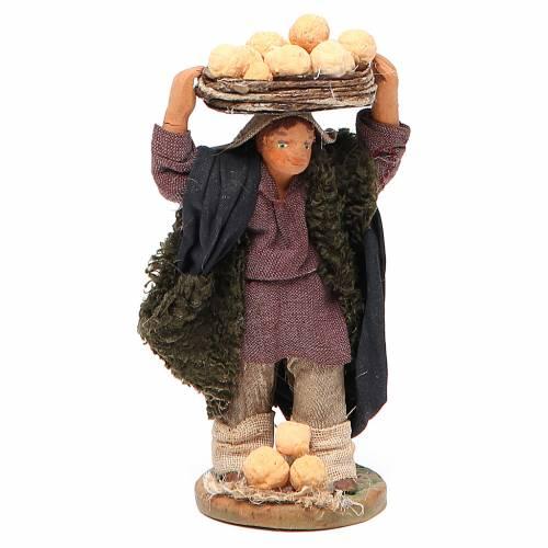 Man with oranges on head, Neapolitan nativity figurine 10cm s1