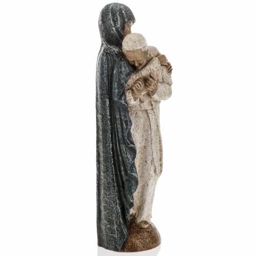 Maria con Giovanni Paolo II 27 cm Bethléem s6