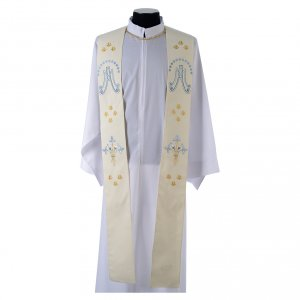 Stoles: Marian stole in polyester with lilies