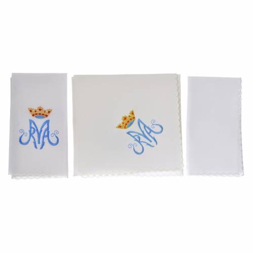 Mass linen set 4 pcs. Marian symbol M s2