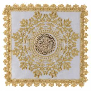 Altar linens: Mass linen set golden gothic design 100% linen