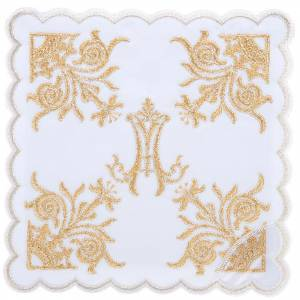 Mass linens 4 pcs. Marian symbol and lilies s1
