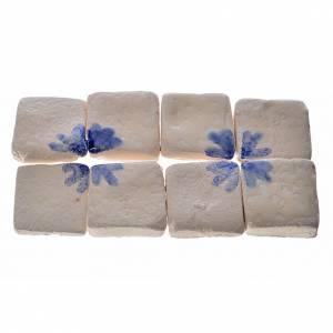 Accessori presepe per casa: Mattonelle terracotta smaltate 60 pz freccia blu per presepe