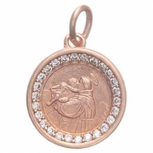 Medaglia argento 800 Sant'Antonio Padova 1,7 cm s1