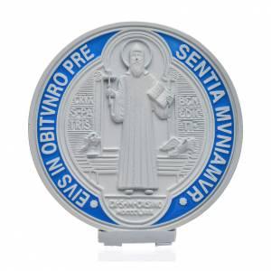 Medaglia croce San Benedetto zama bianco 12,5 cm s1