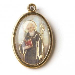 Medaglia Dorata con immagine Resinata San Benedetto s1