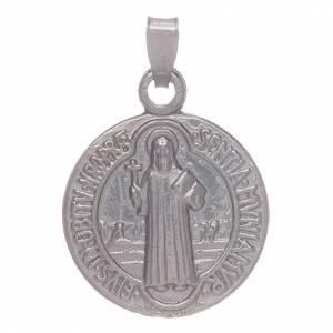 Medaglia S. Benedetto in argento 925 s1