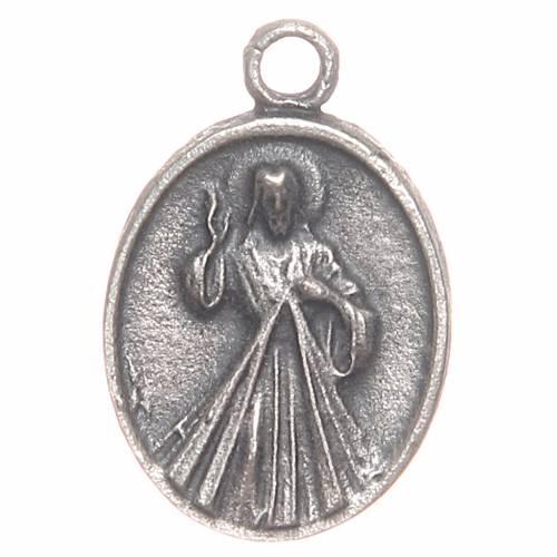 Medaglietta Papa Francesco e Gesù Misericordioso s2
