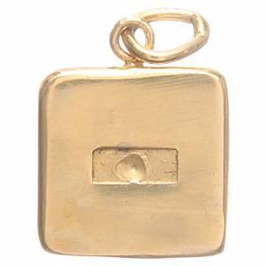 Médaille argent 800 Clés Vatican 1,5x1,5 cm s2
