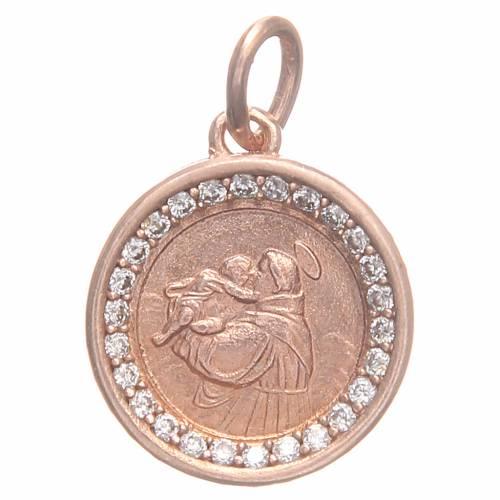 Médaille argent 800 St Antoine de Padoue 1,7 cm s1