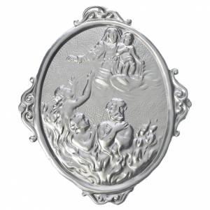 Médaille confrérie laiton Vierge et âmes du Purgatoire s1