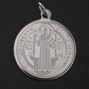 Medaillen: Medaille Heiliger Benedikt 30 mm Edelstahl