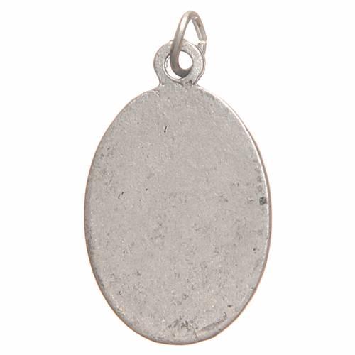 Médaille pendentif Sainte Faustine galvanisée argent vieilli 2,1 cm s2