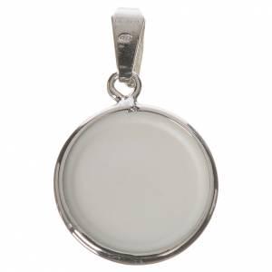 Médaille ronde argent 18mm Lourdes s2