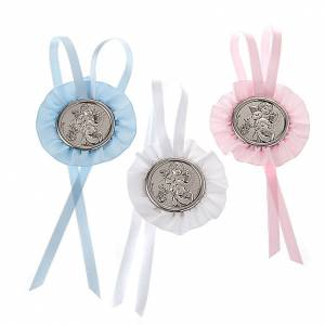 Medals and decorations for cradle: Medal, cradle decoration with angel, baby and lantern