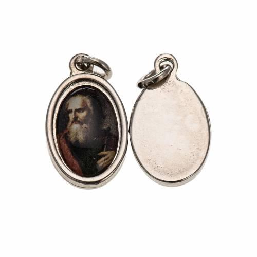 Medal in silver metal resin face of Saint Paul 1.5x1cm s1