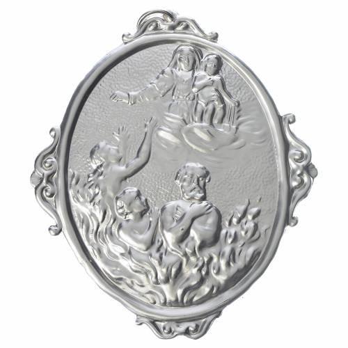 Medalla cofradía Almas del purgatorio y Virgen s1