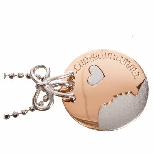 Medalla Corazón de Mamá de Oro 750/00 Blanco y Rojo - gr 4,92 s2