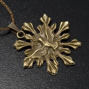 Medalla del Espíritu Santo dije color bronce s2