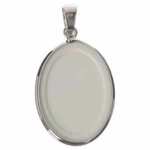 Medalla ovalada de plata, 27mm Nuestra Señora desatanudos s2