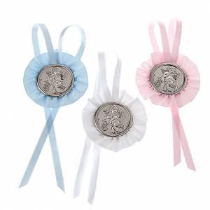 Medallas y decoraciones para cunas: Medalla para cuna Ángel con Farol y el Niño, cinta