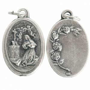 Medalla Santa Rita de metal oxidado 20mm s1