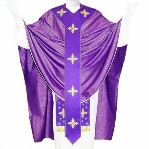 Medieval Chasuble in pure wool and lurex with embroideries s1
