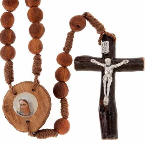 Medjugorje rosary beads seeds and wood s1