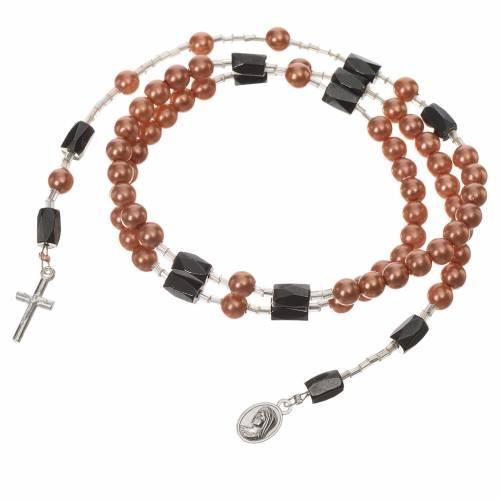 Medjugorje rosary bracelet beige beads s2