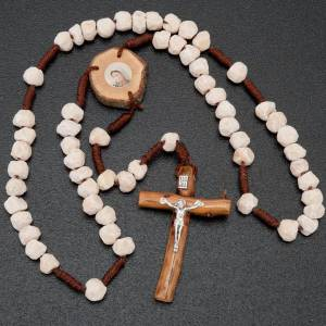 Medjugorje rosary, stone wood and string s2
