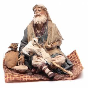 Pesebre Angela Tripi: Mendigo lisiado sentado 18 cm Angela Tripi
