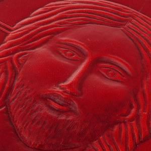 Deckel für Messbücher: Messbucheinband echte Leder Kristus Pantocratore Rot