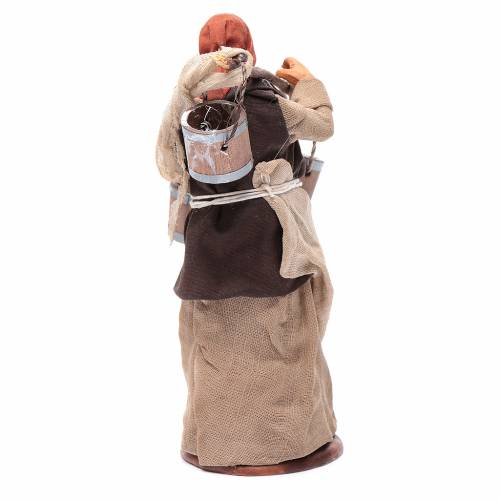 Milk seller with wooden buckets for Neapolitan Nativity, 14cm s4