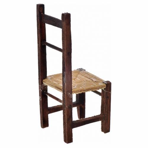 Mini chaise empaillée crèche Naples 8,5x3,5x3,5 cm s2