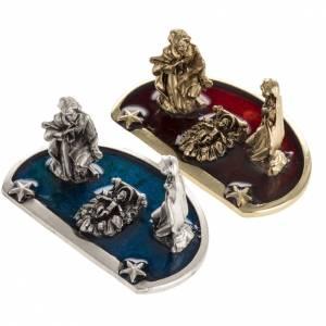 Mini crèche de Noel 3 personnages zamak h 3cm s2