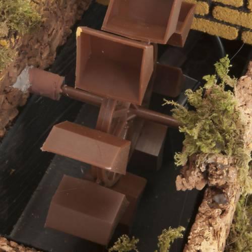 Mini moulin à eau avec pompe crèche Noel 17x25x15 s2