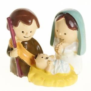 Mini Nativité enfants 3 cm résine s1