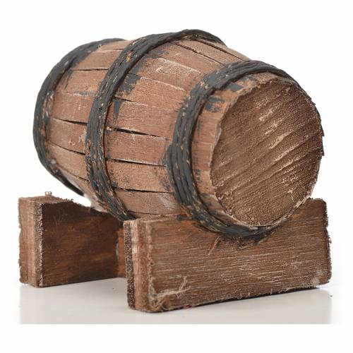 Mini tonneau bois 7.5 cm pour crèche napolitaine s3