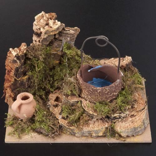 Miniature décoratif crèche noël puits s3