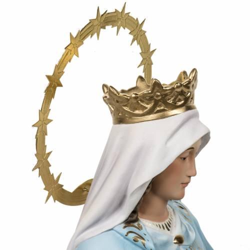 Miraculous Madonna statue 60cm in wood paste, elegant decoration s8