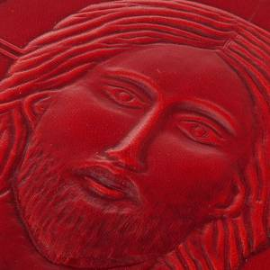 Missal cover in real red leather, Pantocrator s3