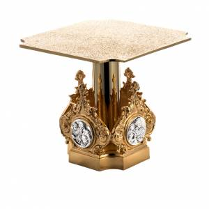 Thabors, Monstrance stands: Monstrance throne in brass with 4 evangelists