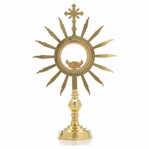 Monstrance with rays, height 38cm, 8cm display case s1