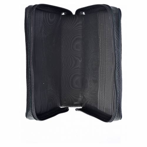 Morning and Evening Prayer cover, black genuine leather with image of the Holy Family s3