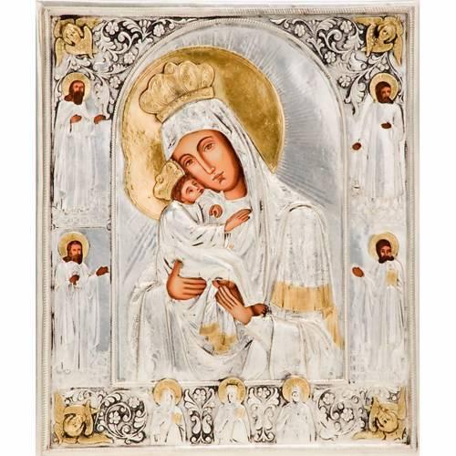 Mother of God Poczajevsk silver s1
