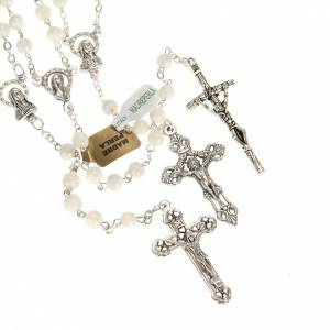 Mother-of-pearl rosaries: Mother of pearl rosary, 6mm round beads
