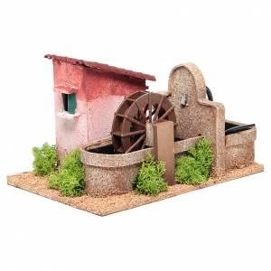 Moulin à eau crèche 14x25x17 cm s2