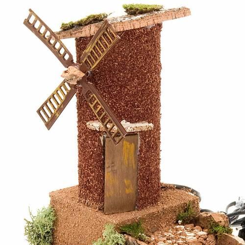 Moulin à vent avec char, 31x17x24 s3