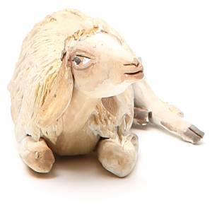 Mouton accroupi 18 cm crèche Angela Tripi s4