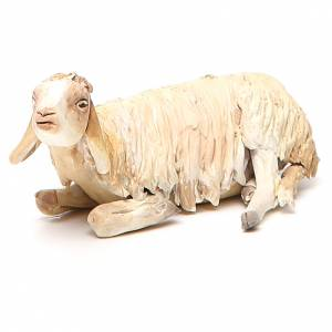 Mouton accroupi 18 cm crèche Angela Tripi s1